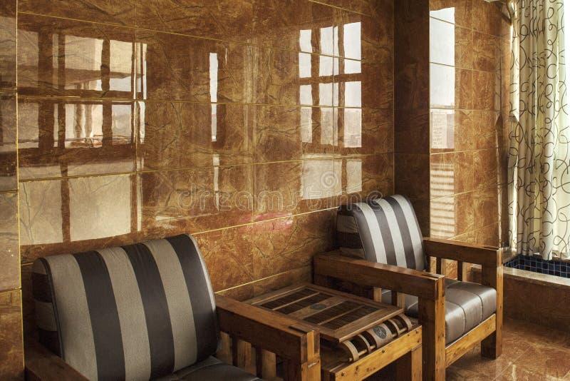 Una stanza del tè di stile cinese fotografia stock