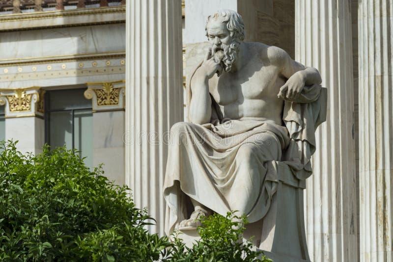 Una statua classica di Socrates fotografia stock