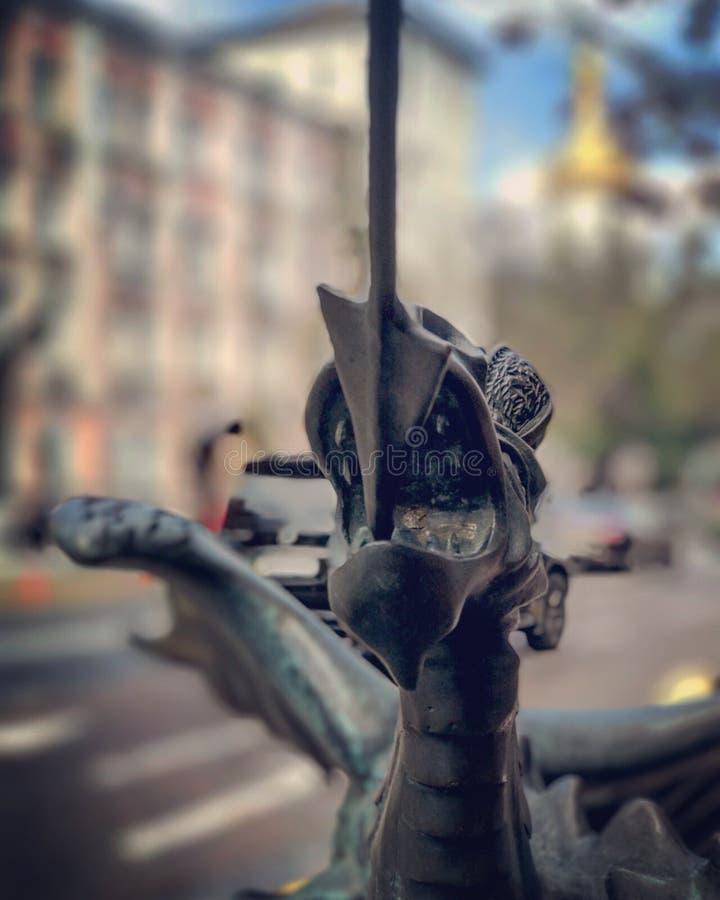 Una statua della st George Slaying un drago immagini stock libere da diritti