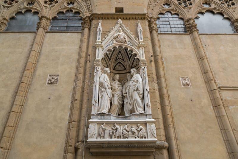 Una statua di marmo di 4 martiri coronati di un gruppo di quattro san da Nanni immagini stock libere da diritti