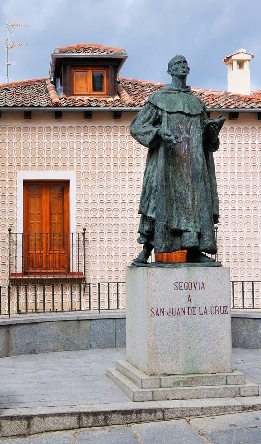 Statua di St John dell'incrocio, Segovia, Spagna fotografia stock