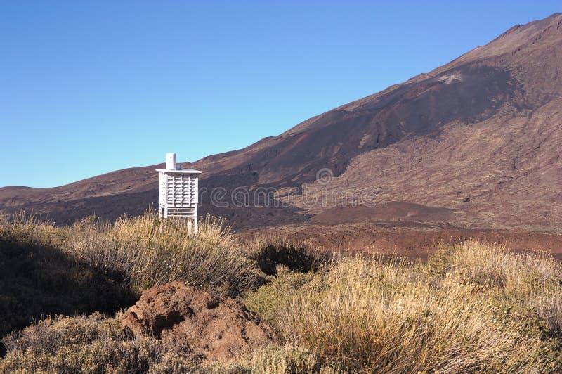Una stazione metereologica sulla montagna immagine stock libera da diritti