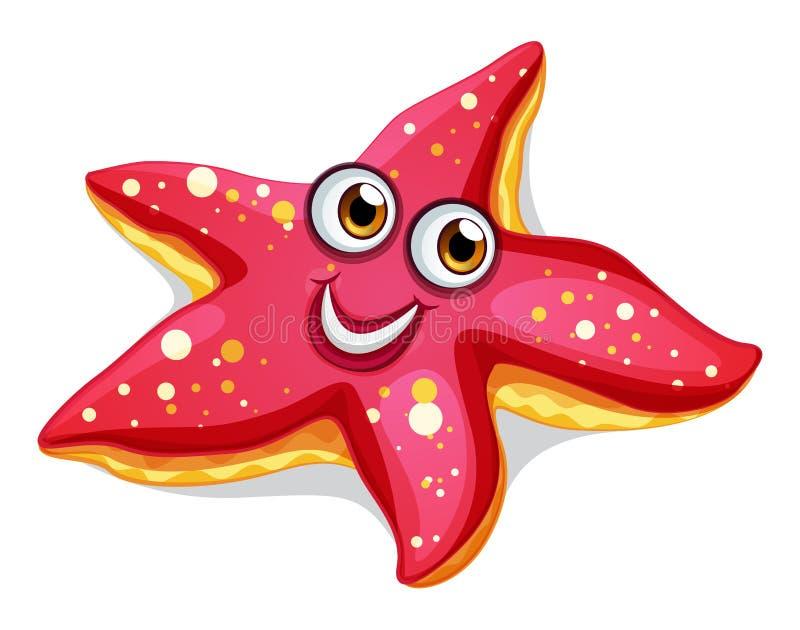 Una stella marina sorridente illustrazione di stock