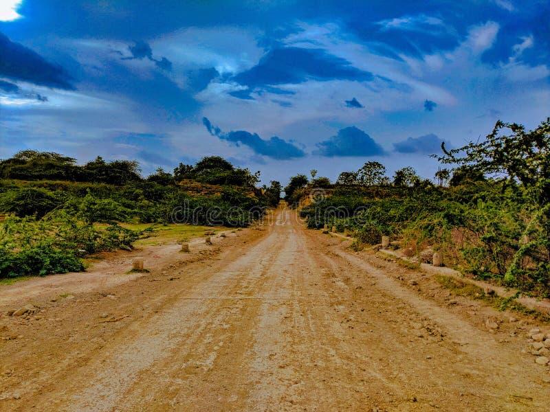 Una strada desolata immagini stock libere da diritti