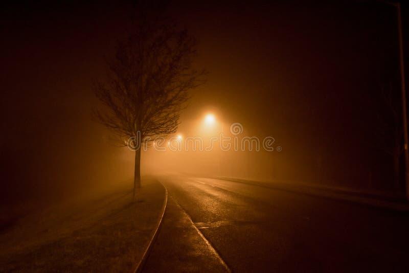 Una strada nella nebbia fotografia stock libera da diritti