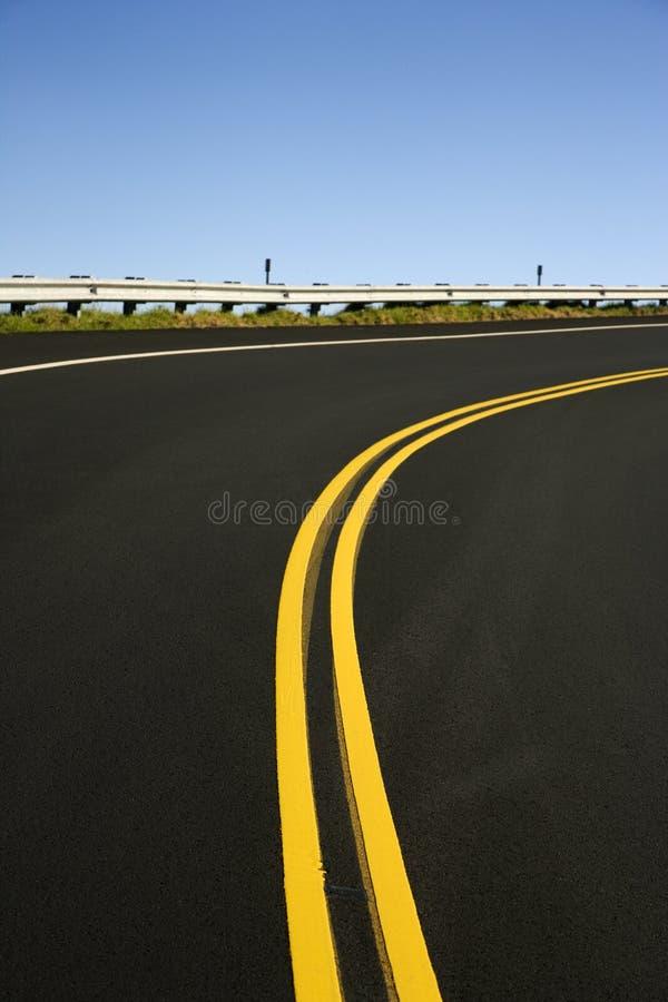 Una strada nella sosta di Haleakala. fotografia stock
