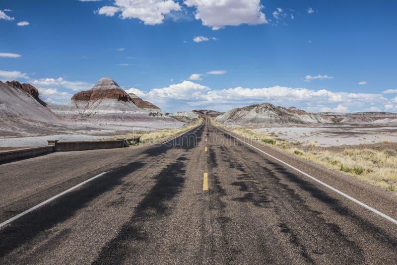 Una strada sull'itinerario 66 fotografia stock