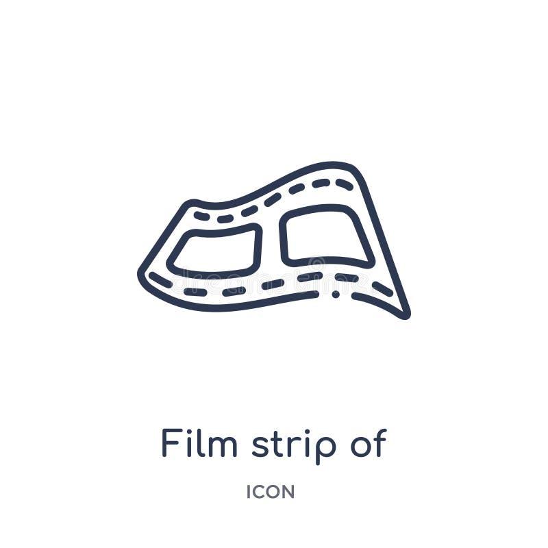 Una striscia di pellicola lineare di un'icona di due fotogrammi dalla raccolta del profilo del cinema Una striscia sottile della  royalty illustrazione gratis