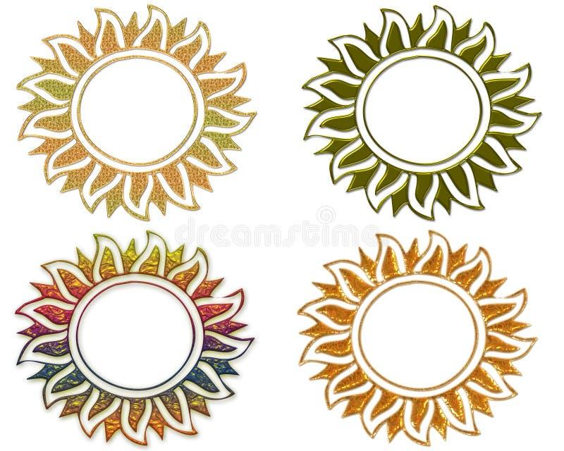 Una struttura il sole. royalty illustrazione gratis