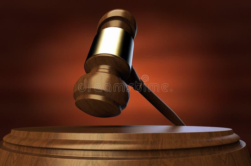 Una subasta/un mazo de la justicia stock de ilustración