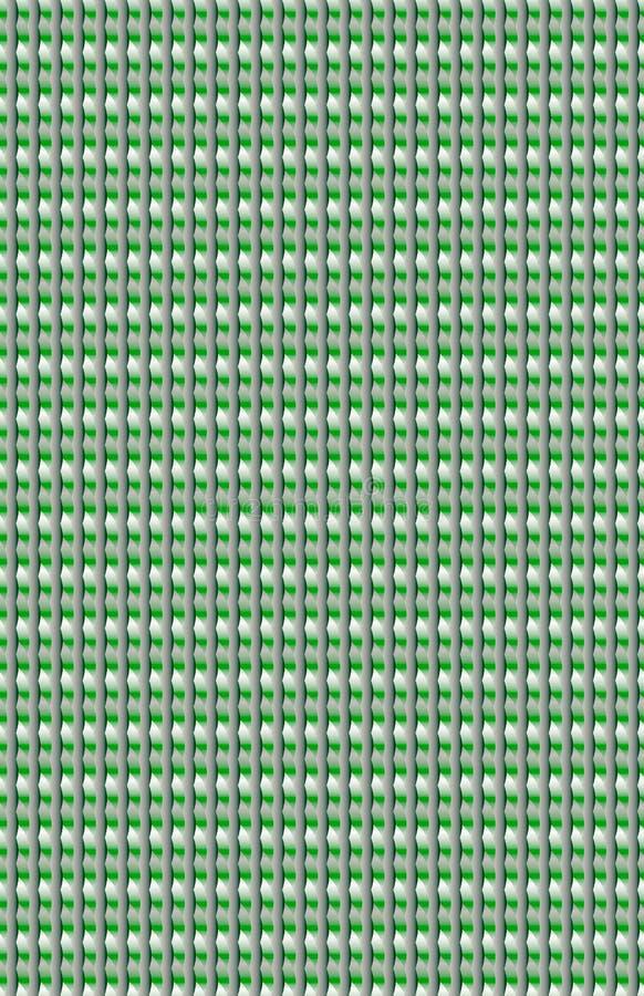 Una superficie metálica brillante hecha de formas azules y verdes ilustración del vector