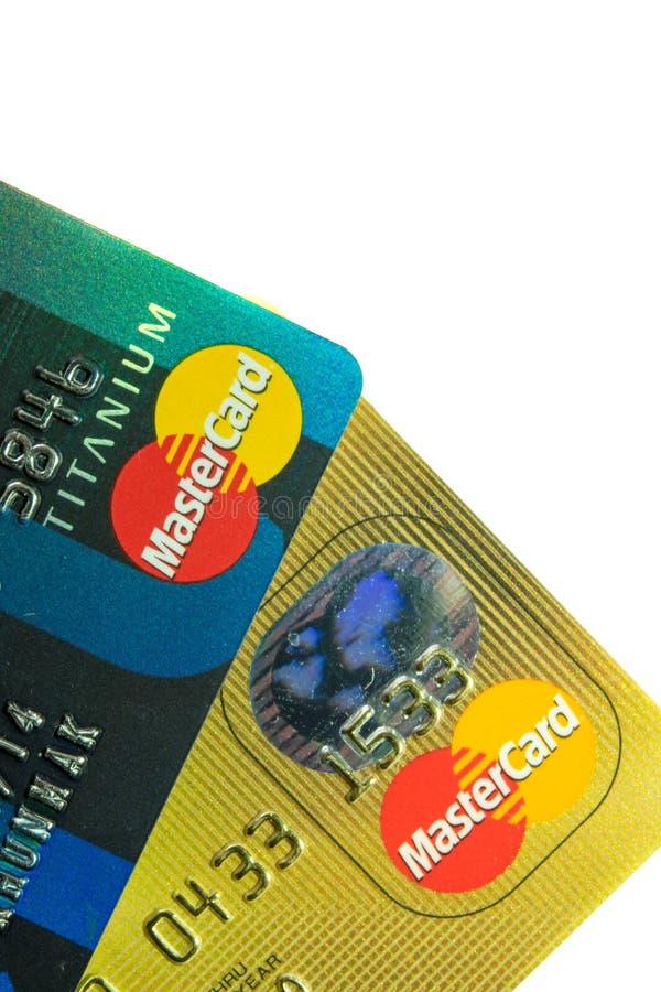 Una tarjeta de crédito ascendente más cercana imagen de archivo libre de regalías