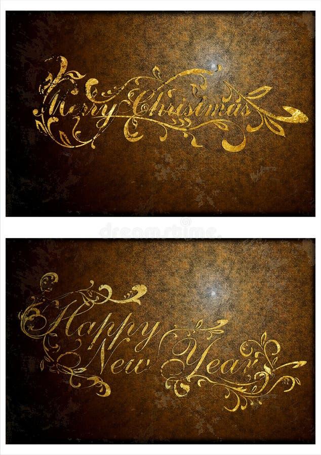 Una tarjeta de Navidad vieja. 02 libre illustration
