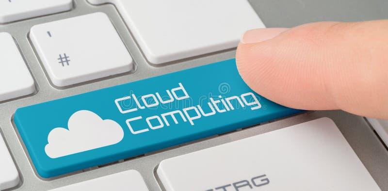 Una tastiera con un blu ha identificato il bottone - appanni la computazione fotografie stock libere da diritti