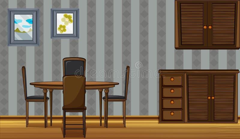 Una tavola e un guardaroba dinning illustrazione di stock