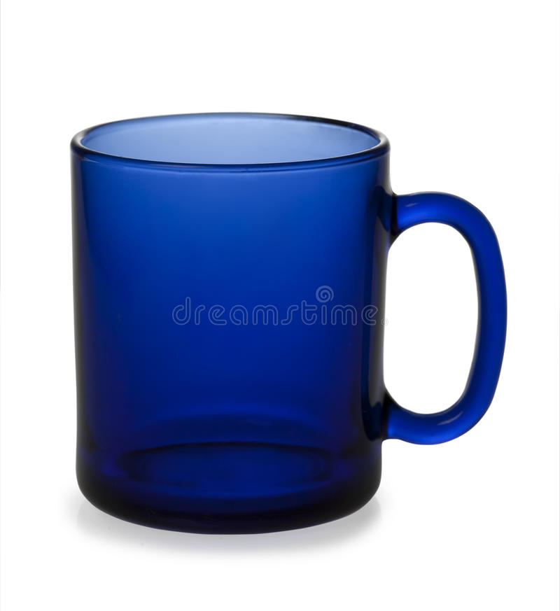 Una taza azul vacía fotos de archivo