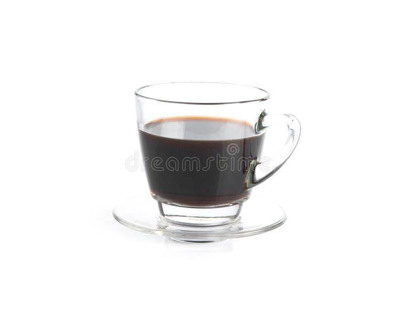 Una taza de café aislada en el fondo blanco imagenes de archivo