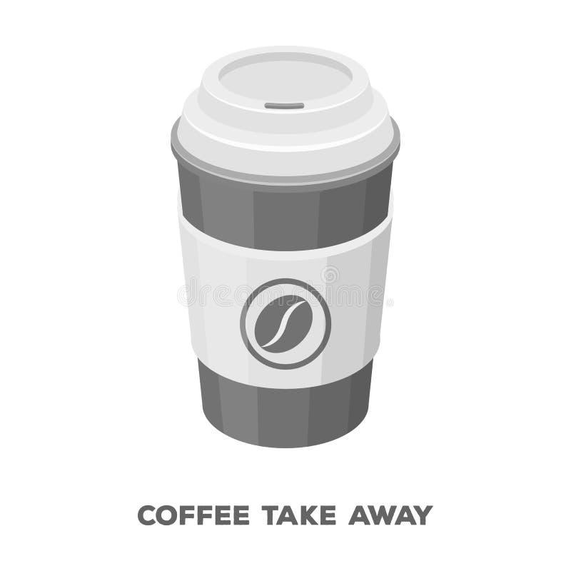 Una taza de café al takeaway Diversos tipos de café escogen el icono en el ejemplo monocromático de la acción del símbolo del vec libre illustration