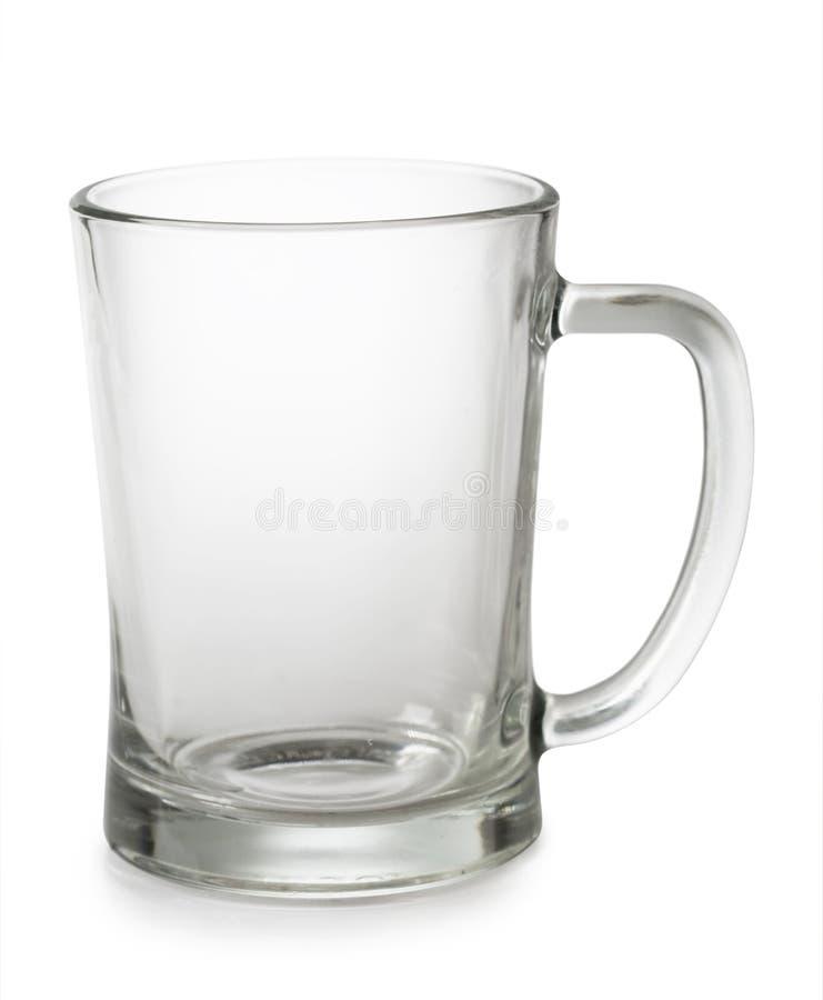 Una taza de cerveza vacía imagen de archivo libre de regalías