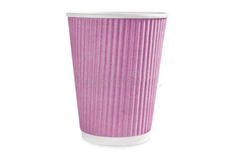 Una taza rosada del café imagen de archivo