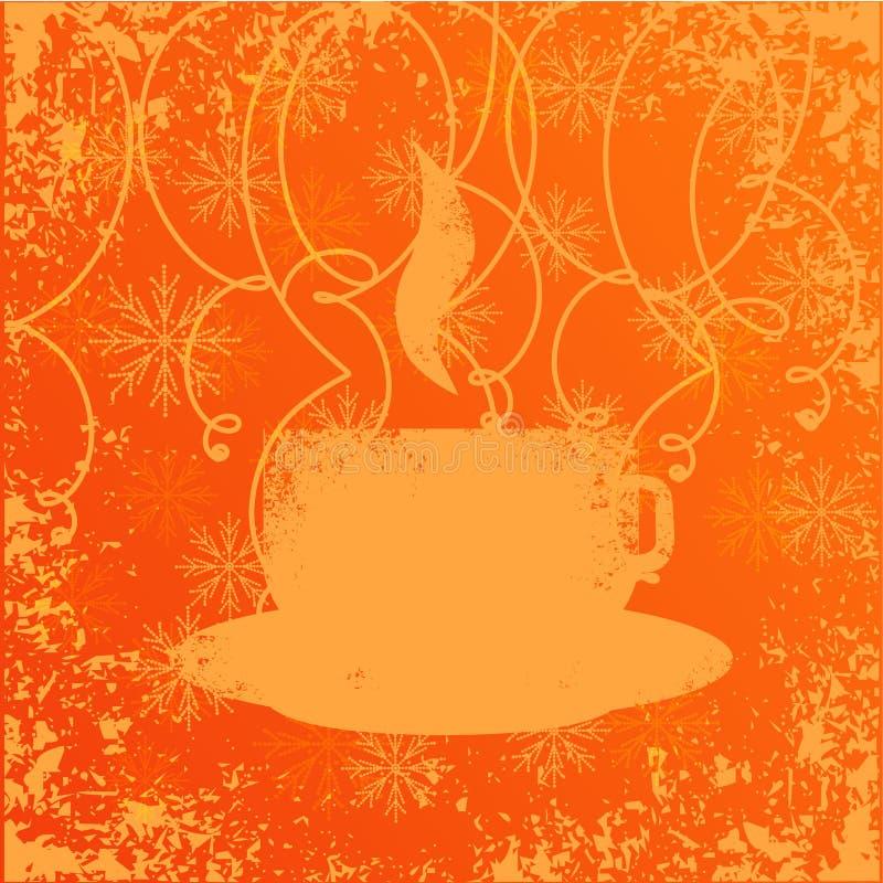 Una tazza di caffè o un tè illustrazione di stock