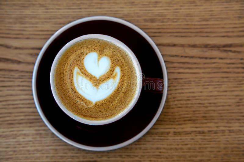 una tazza di caffè una vista superiore fotografia stock