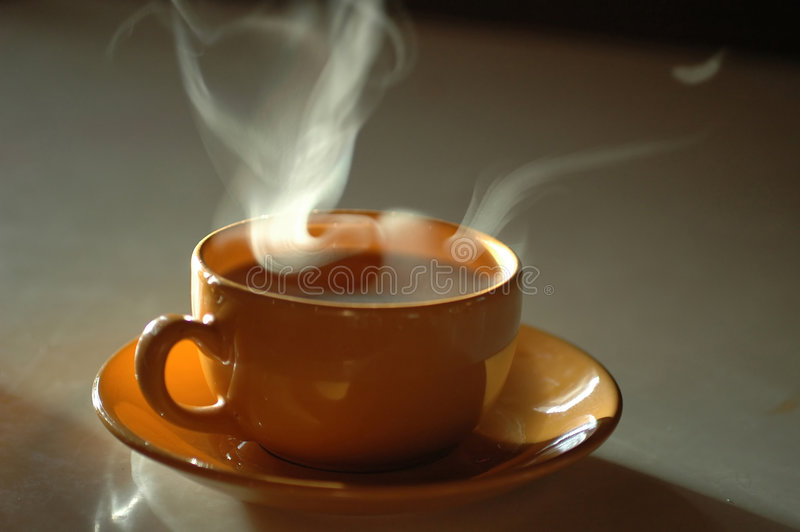Una tazza di tè caldo immagine stock libera da diritti