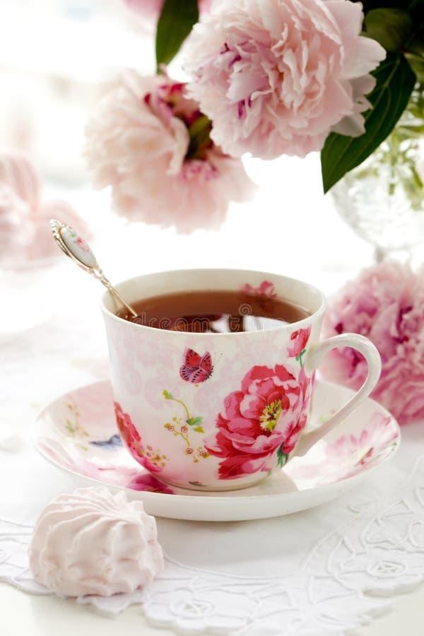 Una tazza di tè nero fotografie stock libere da diritti