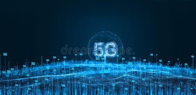 Una tecnología moderna futurista 5g ilustración del vector