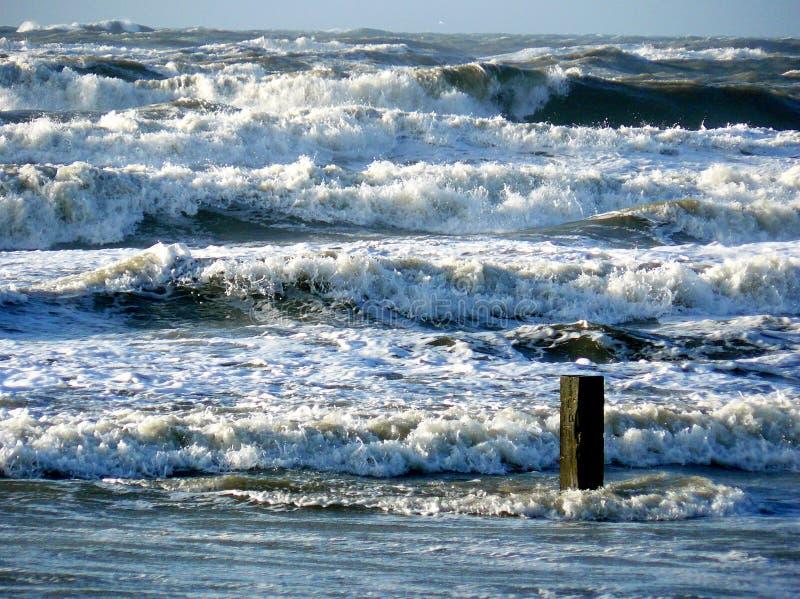Una tempesta di febbraio ai Paesi Bassi immagini stock libere da diritti