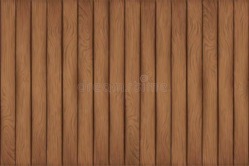 Una textura de los tablones de madera stock de ilustración