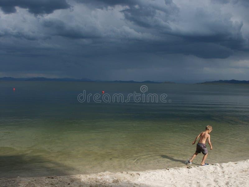 Una tormenta que viene imagen de archivo