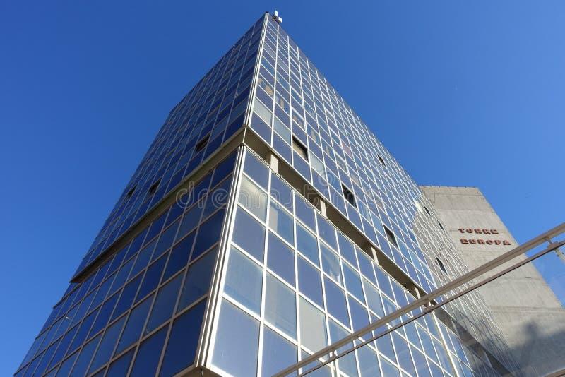 Una torre di vetro dell'ufficio fotografie stock