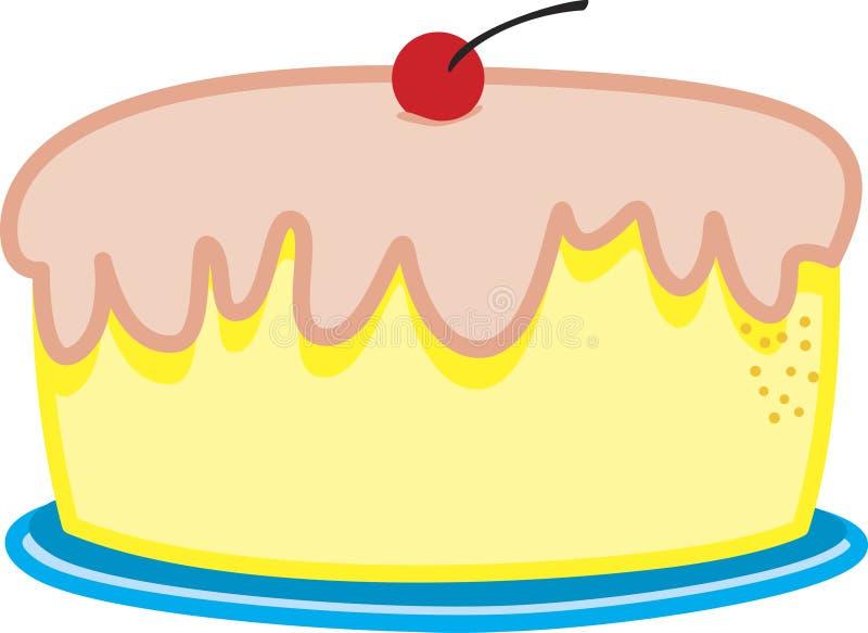 Una torta di compleanno royalty illustrazione gratis