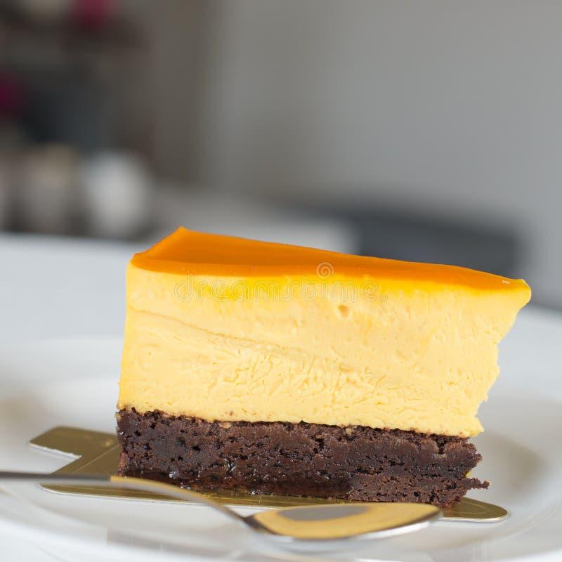 Una torta di formaggio deliziosa fotografia stock