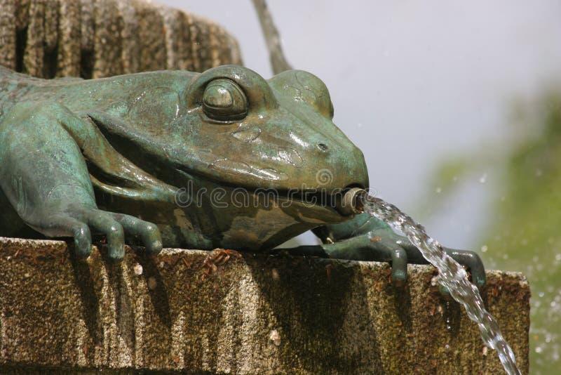 Una tortuga en una fuente fotos de archivo