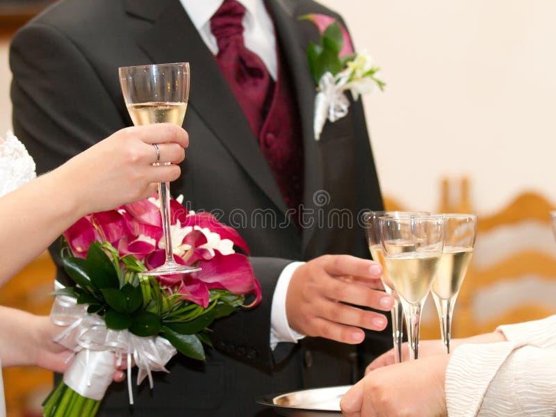 Una tostada de la boda imagenes de archivo