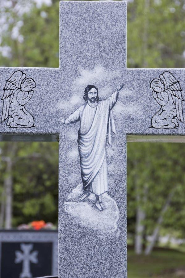Una traversa ad un cimitero fotografia stock libera da diritti