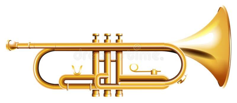 Una trompeta de oro libre illustration