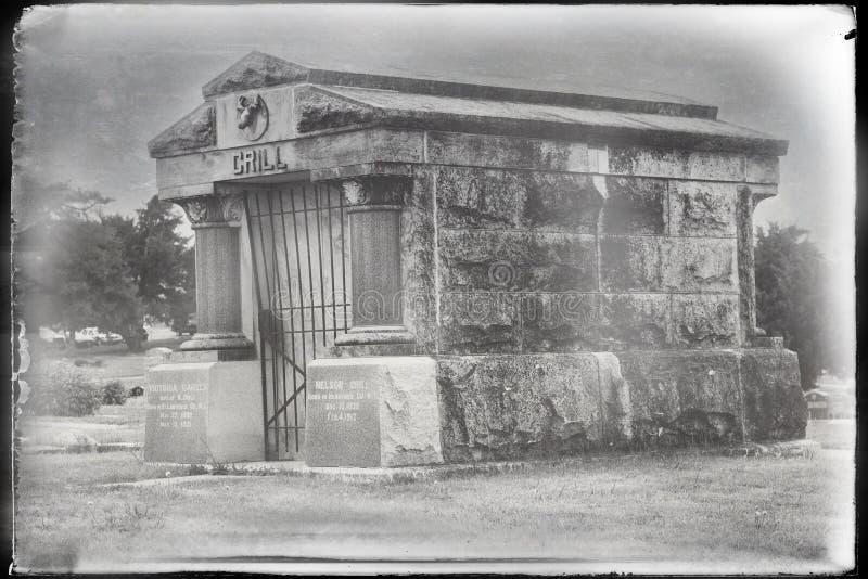 Una tumba grave de la yarda fotografía de archivo