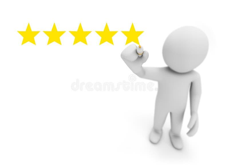 Una valutazione delle cinque stelle royalty illustrazione gratis