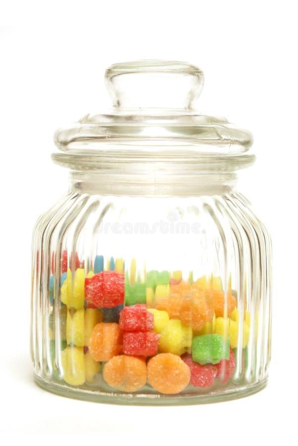 Tarro del caramelo foto de archivo libre de regalías