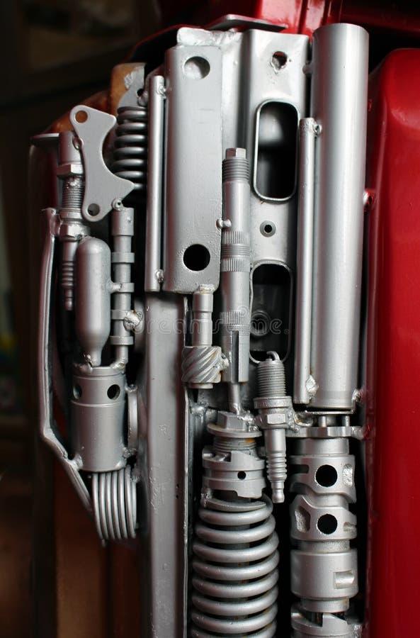 Una variedad de piezas industriales del metal incluyendo las primaveras foto de archivo libre de regalías