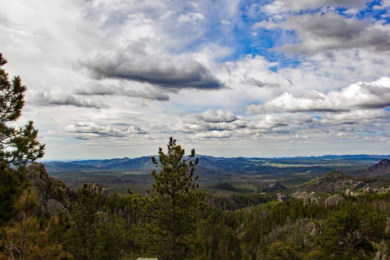 Una vasta vista del Black Hills del sud immagine stock