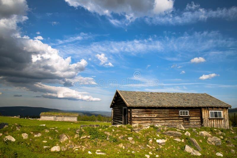 Una vecchia cabina fotografia stock