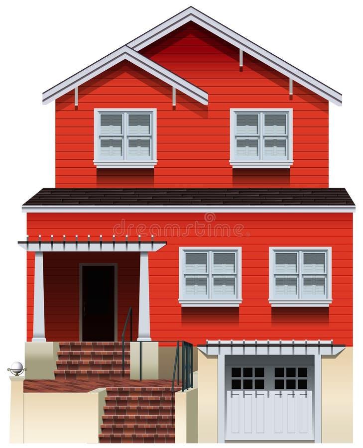 Una vecchia costruzione arancio royalty illustrazione gratis