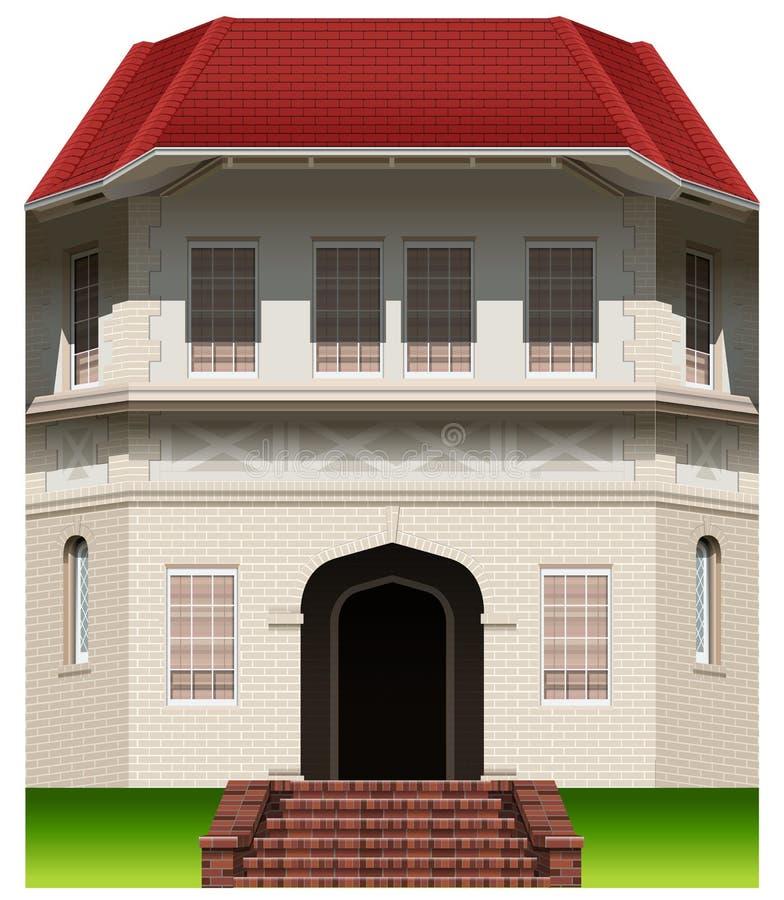 Una vecchia costruzione commerciale illustrazione vettoriale