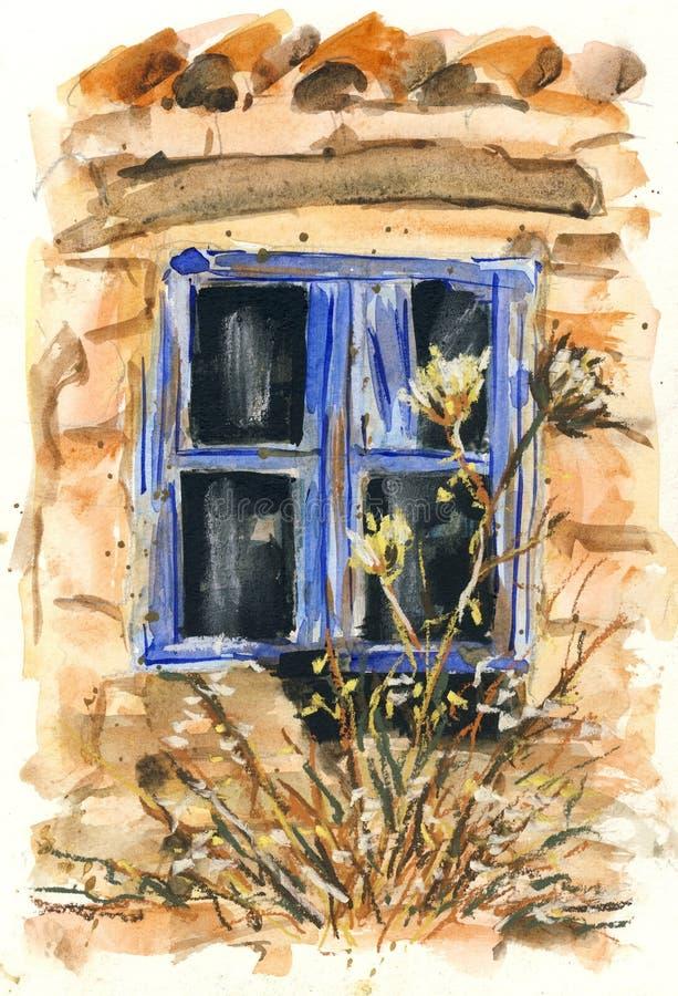 Una vecchia finestra royalty illustrazione gratis