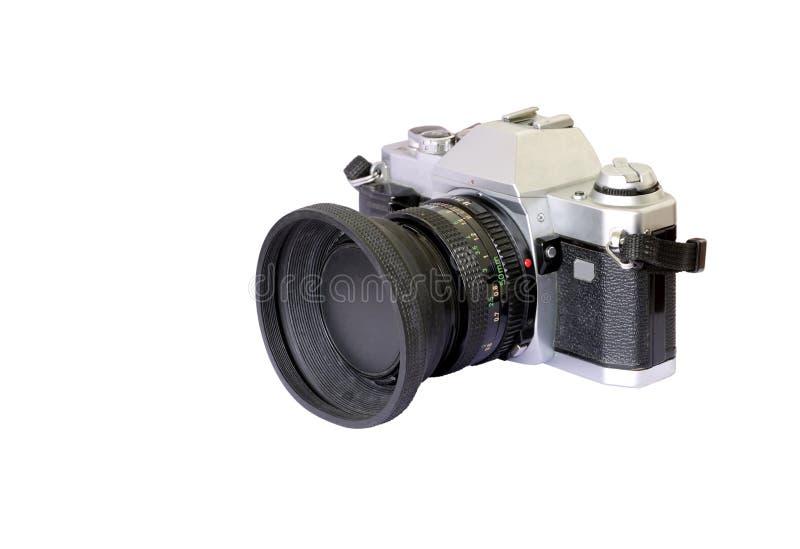 Una vecchia macchina fotografica analog di modello fotografie stock
