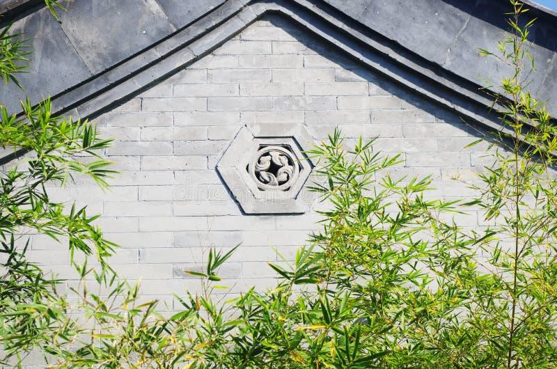 Una vecchia parete a Pechino fotografia stock